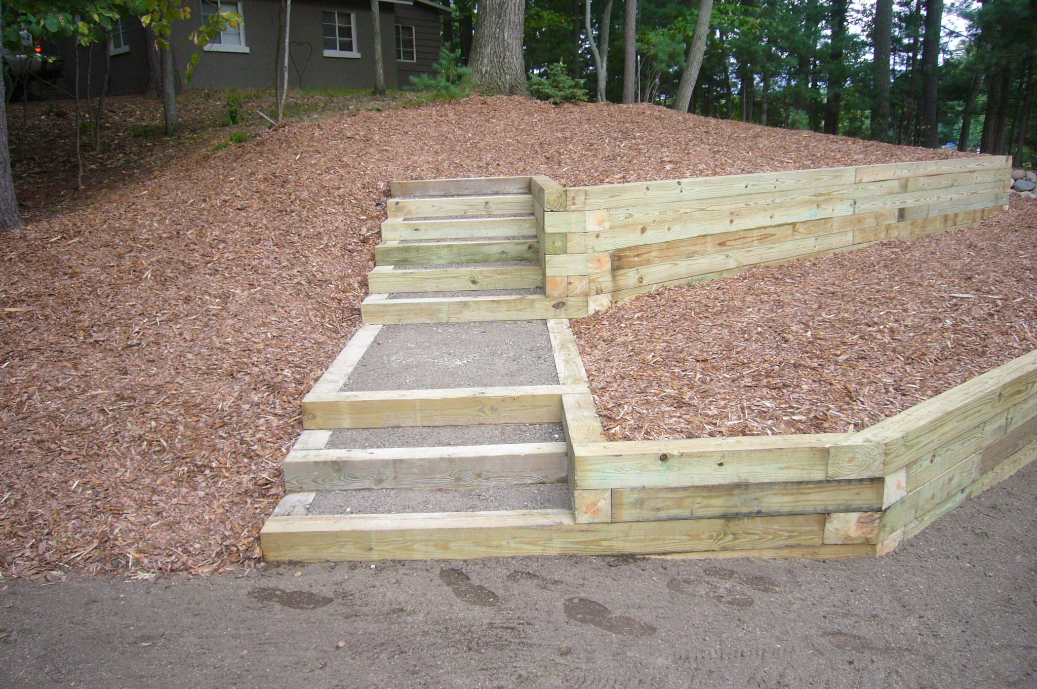 Best Timber Steps Steps Four Season Nursery Landscape 400 x 300