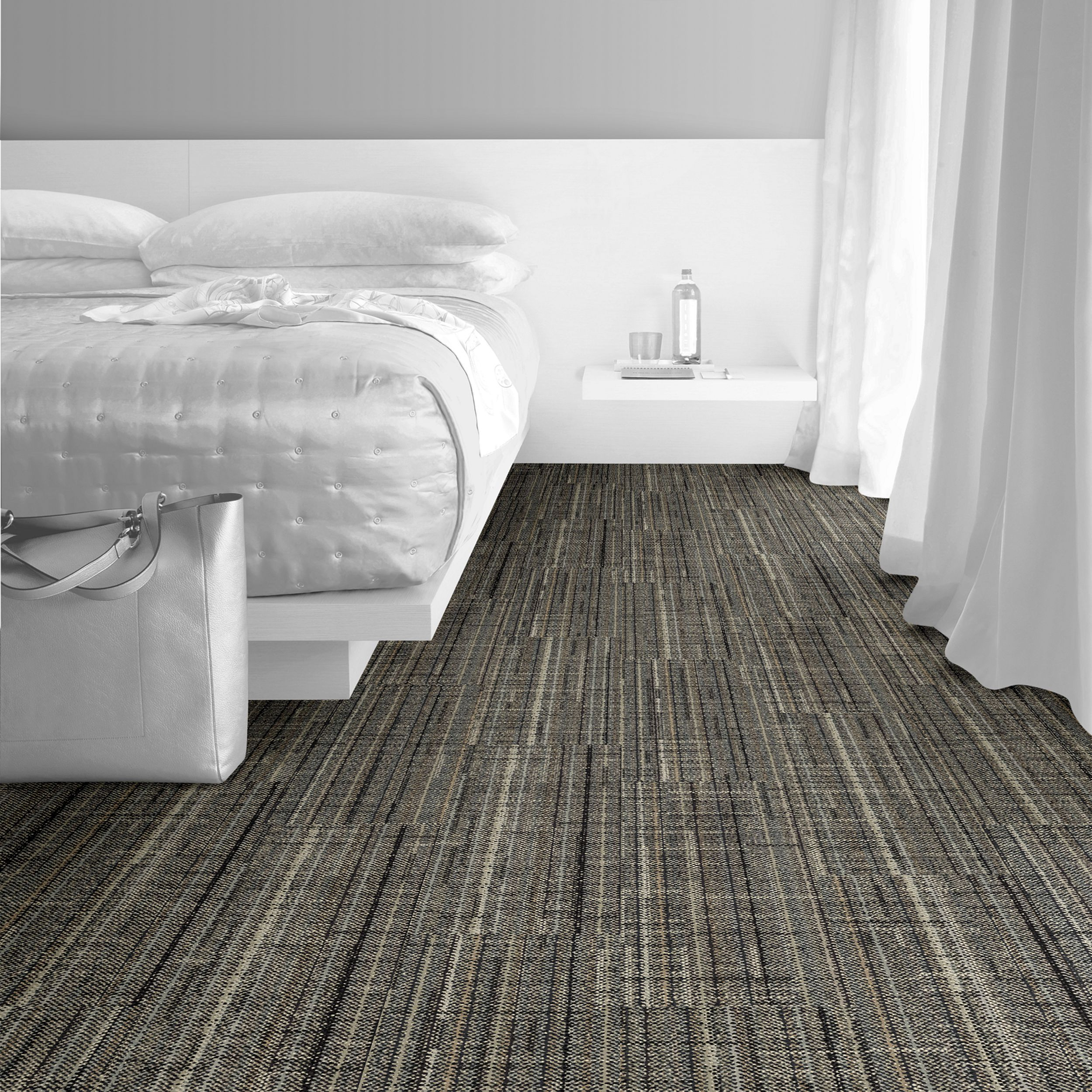 Interface Carpet Tile French Seams Color Chantilly 105604