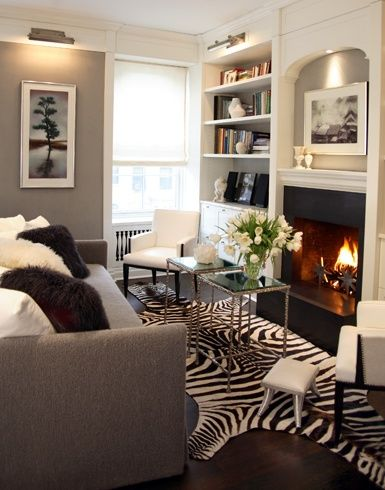 Animal Print Rugs Add Punch To Neutral Rooms Modern Chic Living