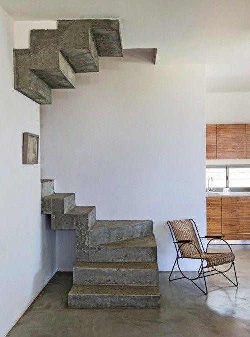 escalier b ton brut escaliers et spirales pinterest. Black Bedroom Furniture Sets. Home Design Ideas