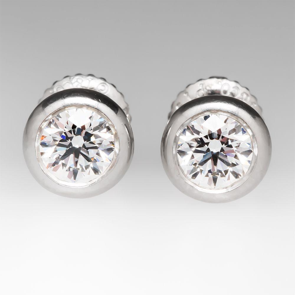 3a03fe373 Tiffany & Co. Elsa Peretti Diamonds by the Yard Earrings .63CTW ...