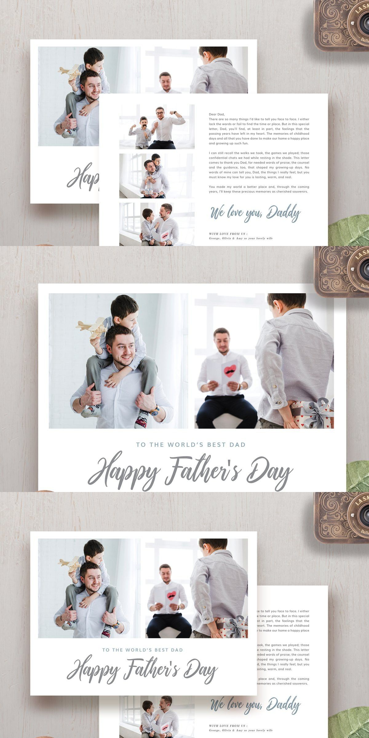 Father S Day Card Template Hc001 Father S Day Card Template Card Template Worlds Best Dad