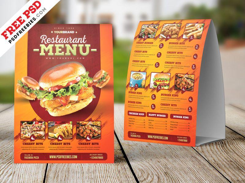 Food Menu Tent Card Design Free Psd Food Menu Food Poster Design Food Menu Template