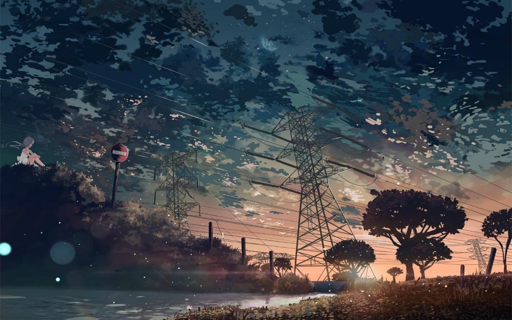 35 خلفيات انمي متنوعة واحترافية لمناظر خلابة بدقة عالية Hd Landscape Wallpaper Anime Wallpaper Download Aesthetic Desktop Wallpaper