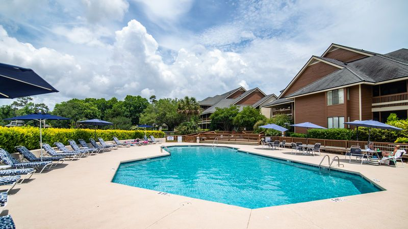 Only steps from the pool.. Myrtle beach condo rentals