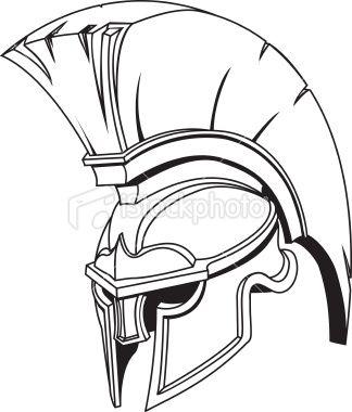 An Illustration Of Spartan Roman Greek Trojan Or Gladiator Helmet Spartan Helmet Tattoo Gladiator Helmet Helmet Tattoo