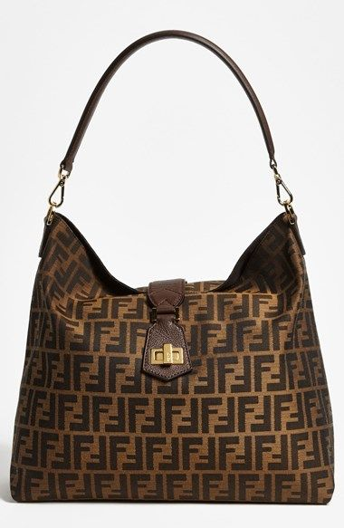 cf02034d0b Fendi  Zucca - Small  Logo Jacquard Hobo. Find this Pin and more on Handbags    Purses ...