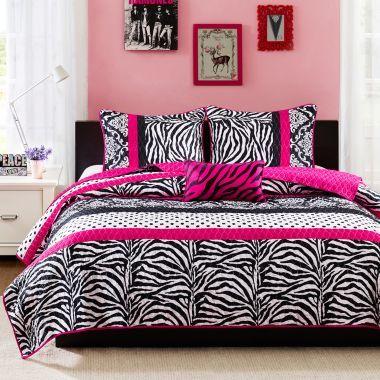 Mi Zone Gemma Zebra Quilt Set | Bedrooms, Kids rooms and Room ideas
