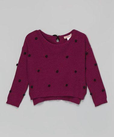 Purple Pom-Pom Sweater - #zulilyfinds | Kids Fashion | Pinterest ...