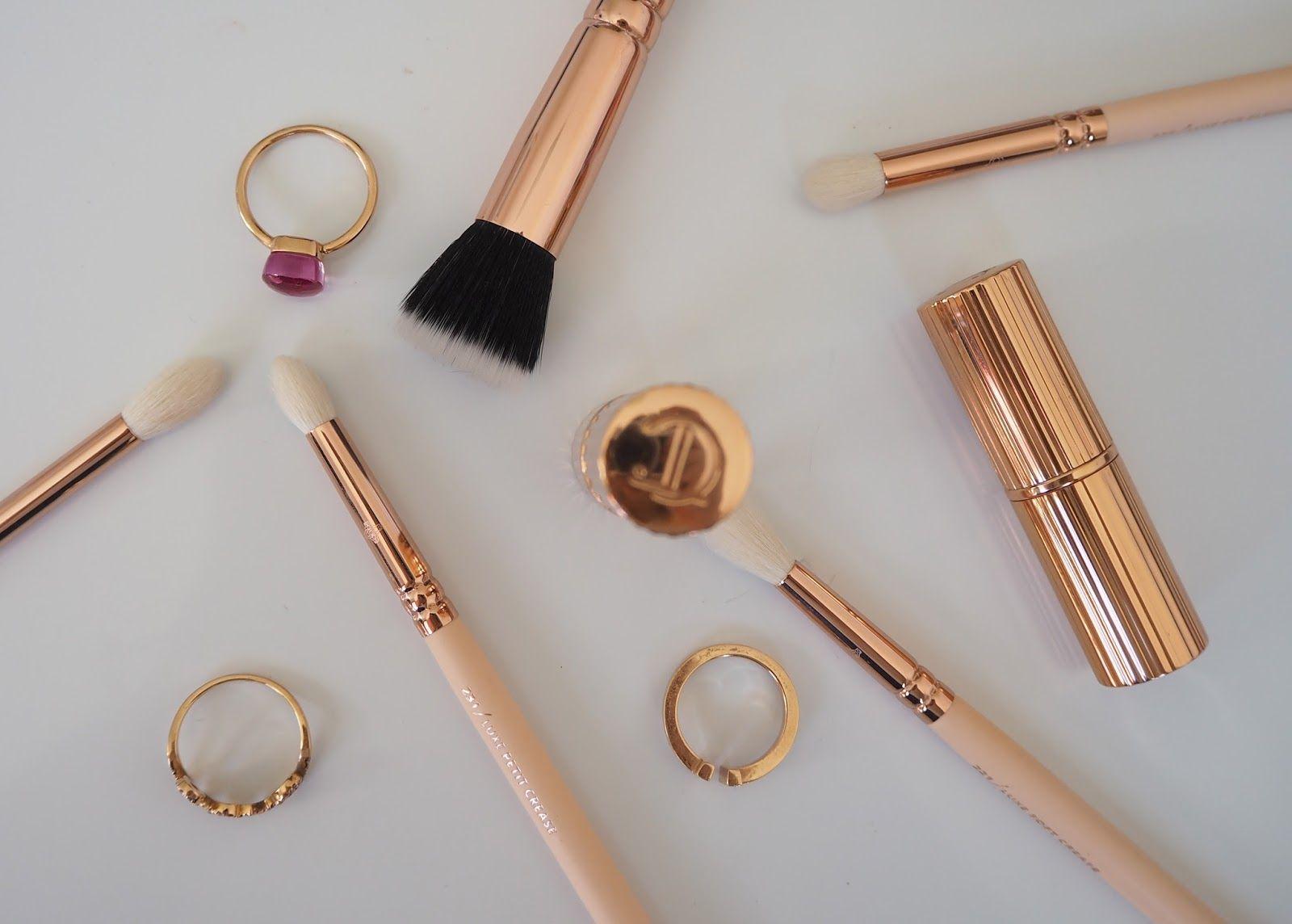 8 Piece Rose Gold Makeup Set Makeup Brushes Foundation