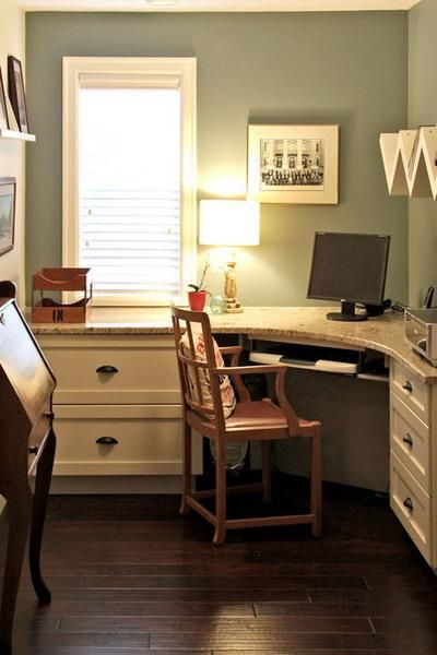30 corner office designs and space saving furniture - Small office setup ideas ...