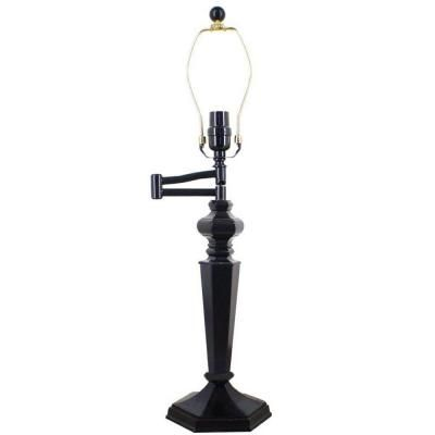Hampton Bay Mix Match Bronze Swing Arm Table Lamp Title 20 15883 The Home Depot Lamp Table Lamp Hampton Bay