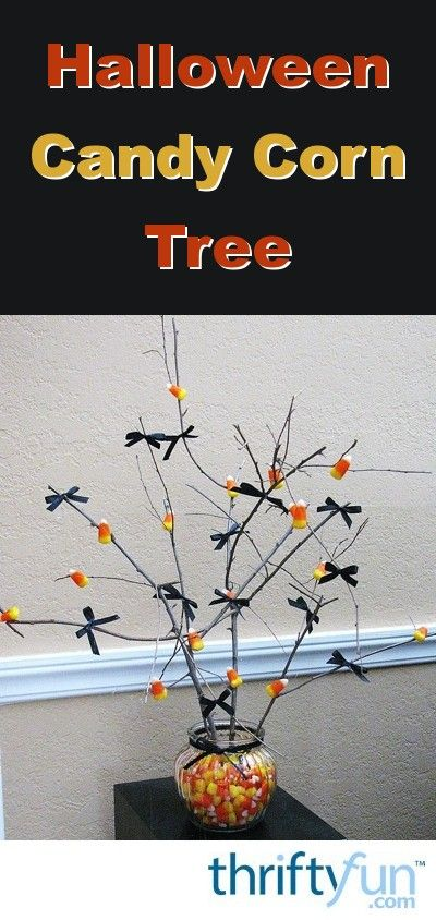 Halloween Candy Corn Tree Simple halloween decorations, Candy corn - how to make simple halloween decorations