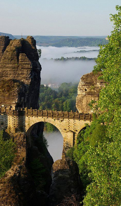 Basteibrücke (Bastei Bridge), Saxony, Germany (by Oli aus F on Flickr) * Basteibrücke (Bastei Bridge), Sasko, Nemecko