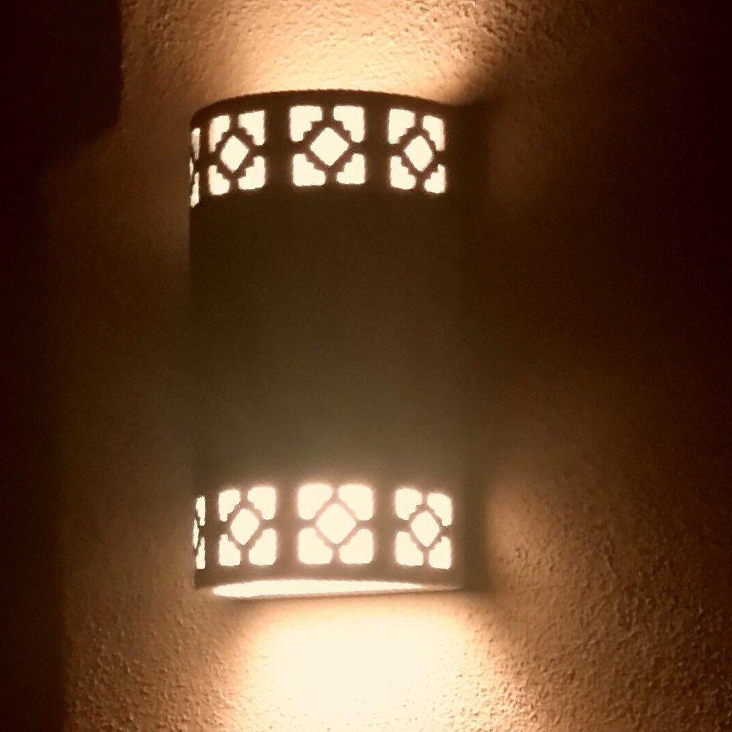 Cortez Ceramic Outdoor Wall Sconces 24ct Gold Outlines Southwestern Lighting Dark Sky Lighting Curb Appeal Weatherproof Lighting Decor Cottage Lighting Ceramic Light Outdoor Wall Sconce