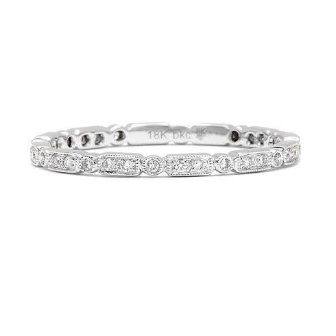 This Delightful Pave Diamond Encrusted Band Features A Geometric Pattern Wear It As Part Of Stacking Set Or Wedding Diamonds Total Weight H
