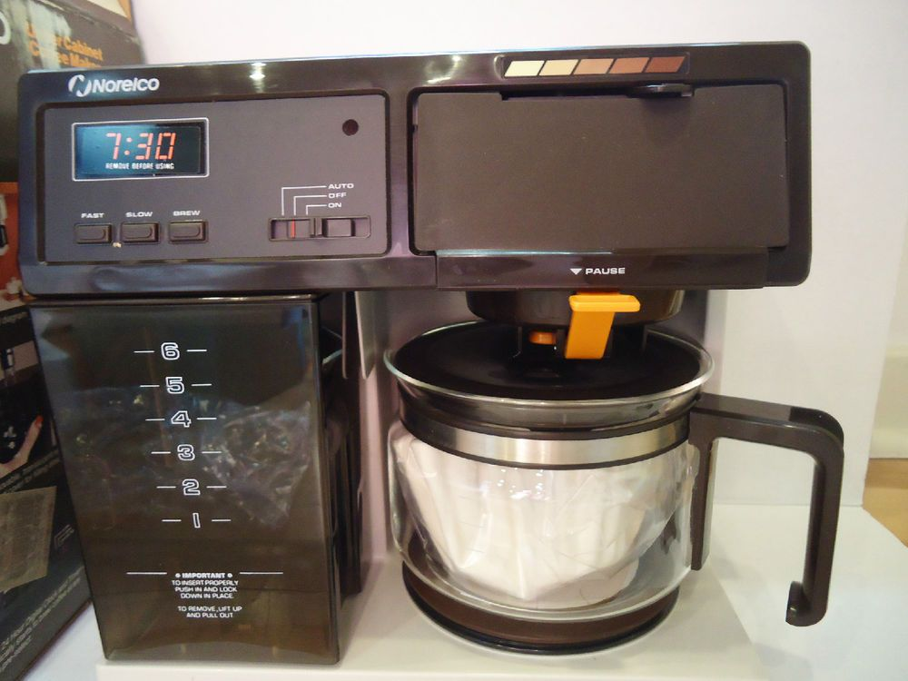Vtg 1985 Norelco Under The Cabinet Drip Coffee Maker 6 Cup Digital Timer Uc6000