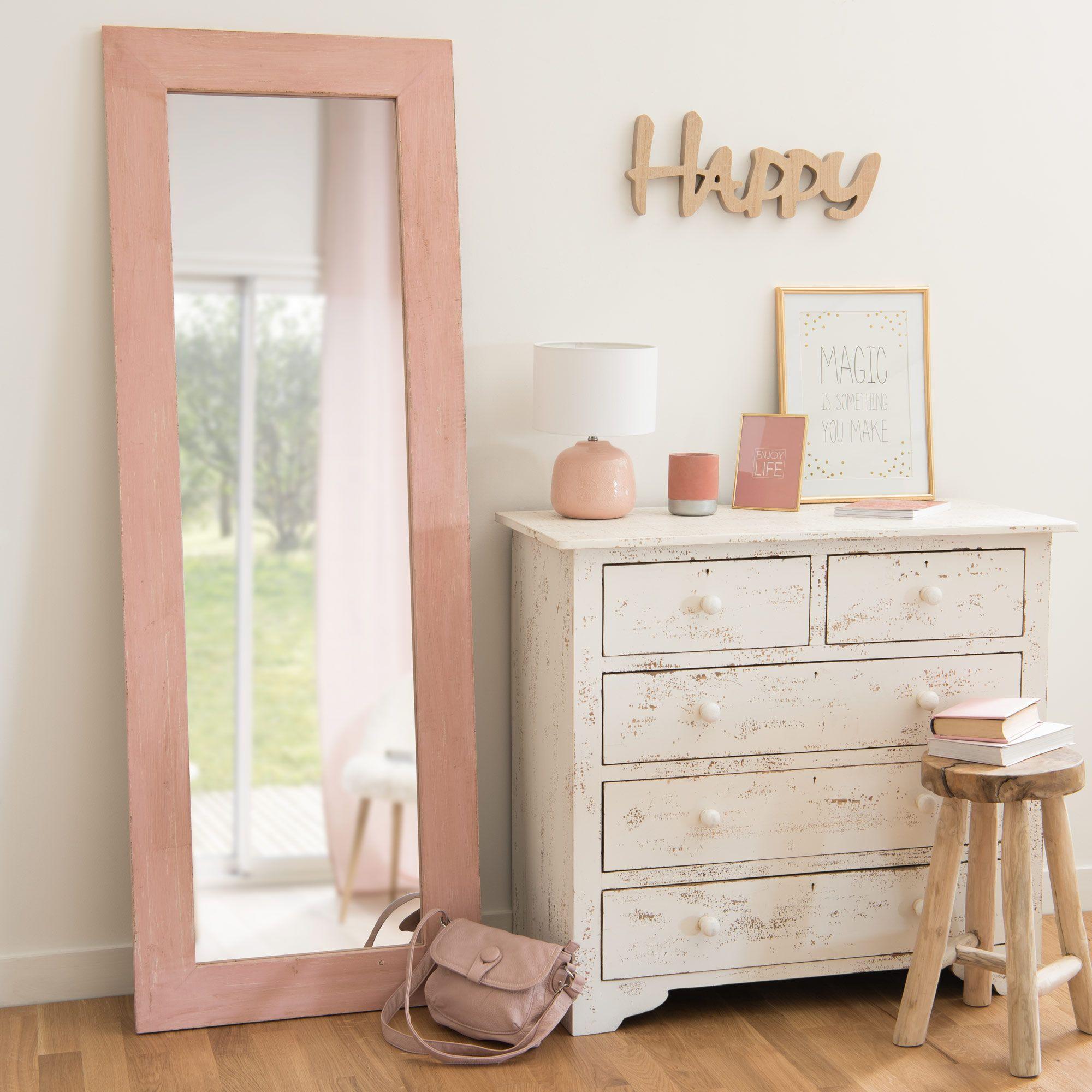 Spiegel aus altrosa Mangoholz 60x170cm LILY ROSE | Home/Deko | Pinterest