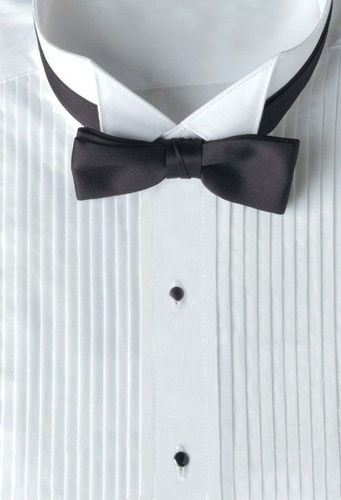 Fitted Lay-Down Collar Tuxedo Shirt Bow-Tie Cuff Links /& Studs Set Cummerbund