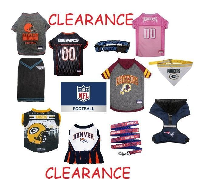 885abd8bb1f7f CLEARANCE NFL Pet Apparel and Pet Gear multiple items and sizes Check it  Out #PetsFirst