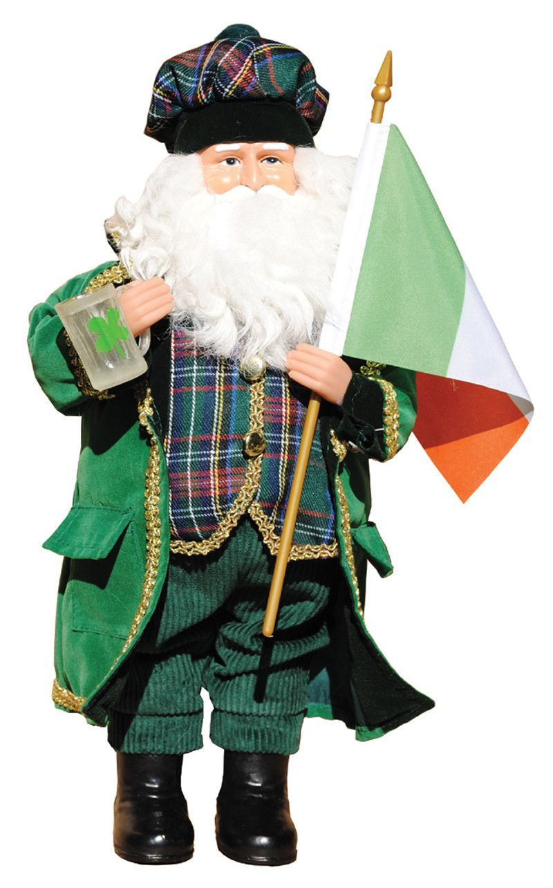 "15"" Irish Santa Santas Santa figurines, Santa"