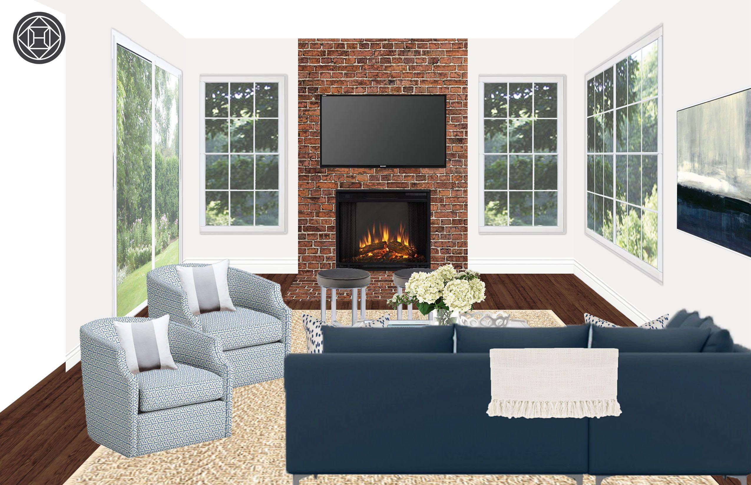 Contemporary Living Room Design By Havenly Interior Designer