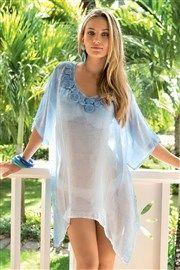 Dámské italské plážové šaty z kolekce Iconique 641KO  azurová