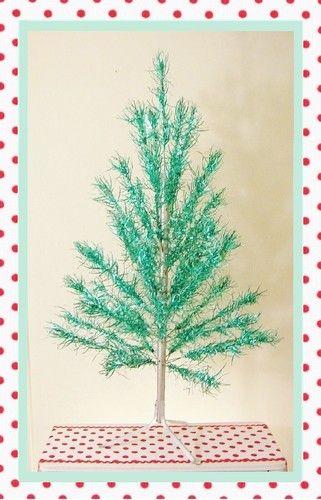 Vintage, Mid Century, Turquoise / Aqua Aluminum Christmas Tree 4 ...