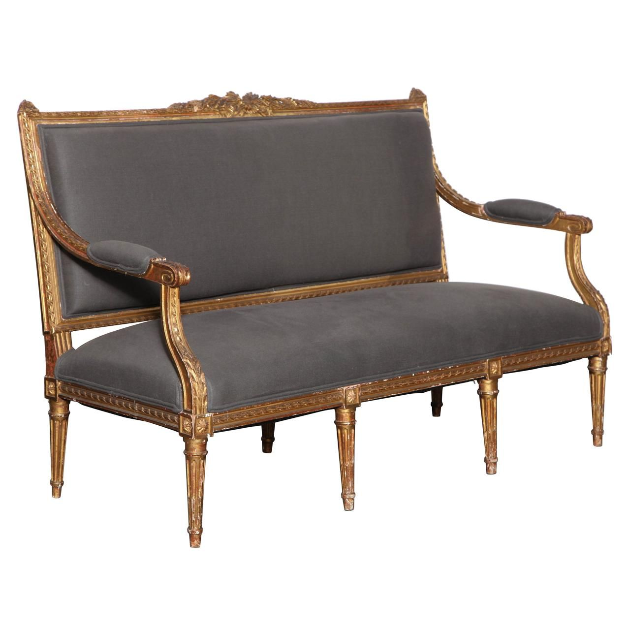 Louis xvi style settee sill n antiguo sillones y for Sillas louis xvi