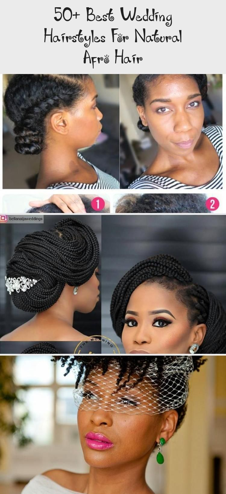 50+ best wedding hairstyles for natural afro hair #naturalhairRegimen #Beautiful...#afro #beautiful #hair #hairstyles #natural #naturalhairregimen #wedding