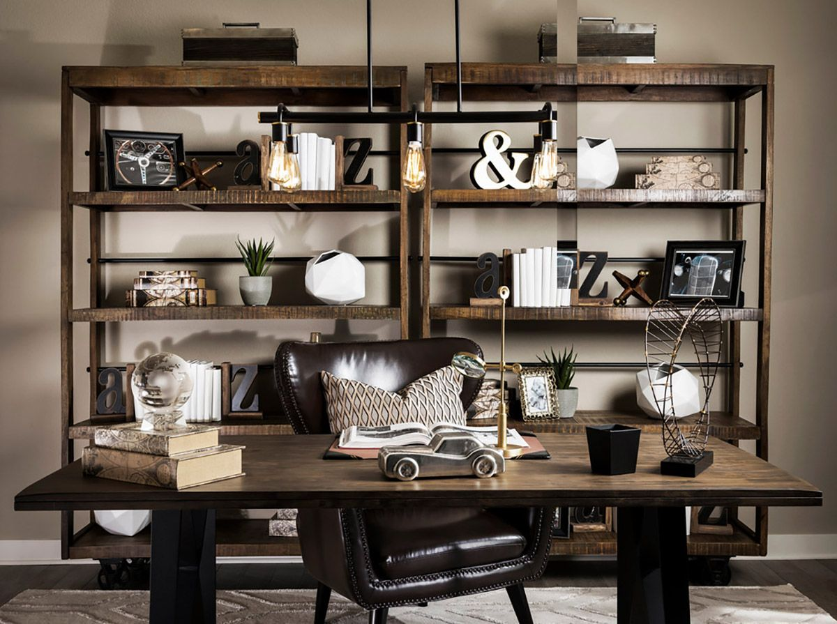 33 Inspiring Industrial Style Home Offices That Sport Beautiful Workspaces Industrial Home Design Industrial Home Offices Industrial Chic Decor