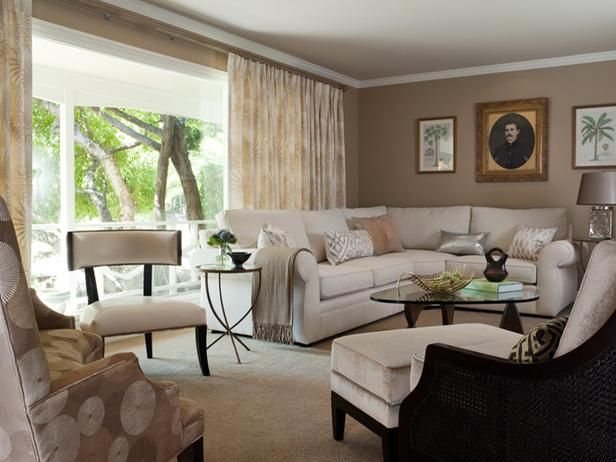 Cozy Contemporary Living Room Interior Remodeling HGTV Remodels