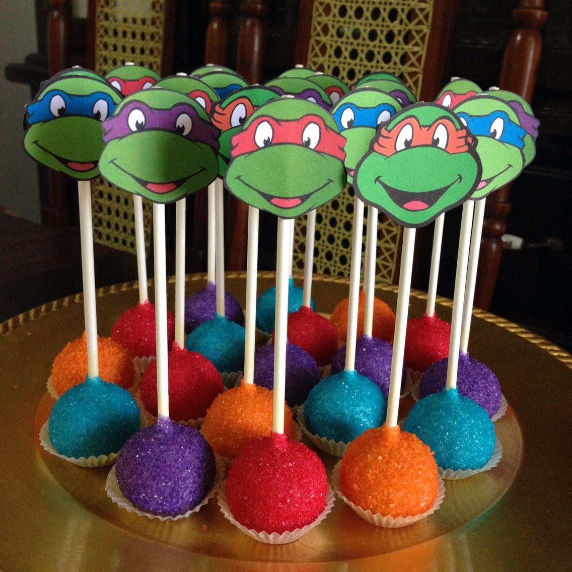 Ninja Turtles Cake Pops Ninja Turtle Birthday Ninja Turtle Cake Ninja Turtle Birthday Cake