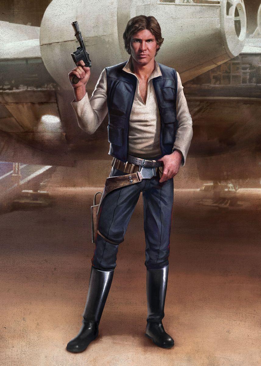 Han Poster Print By Star Wars Displate In 2021 Star Wars Han Solo Han Solo Costume Star Wars Wallpaper