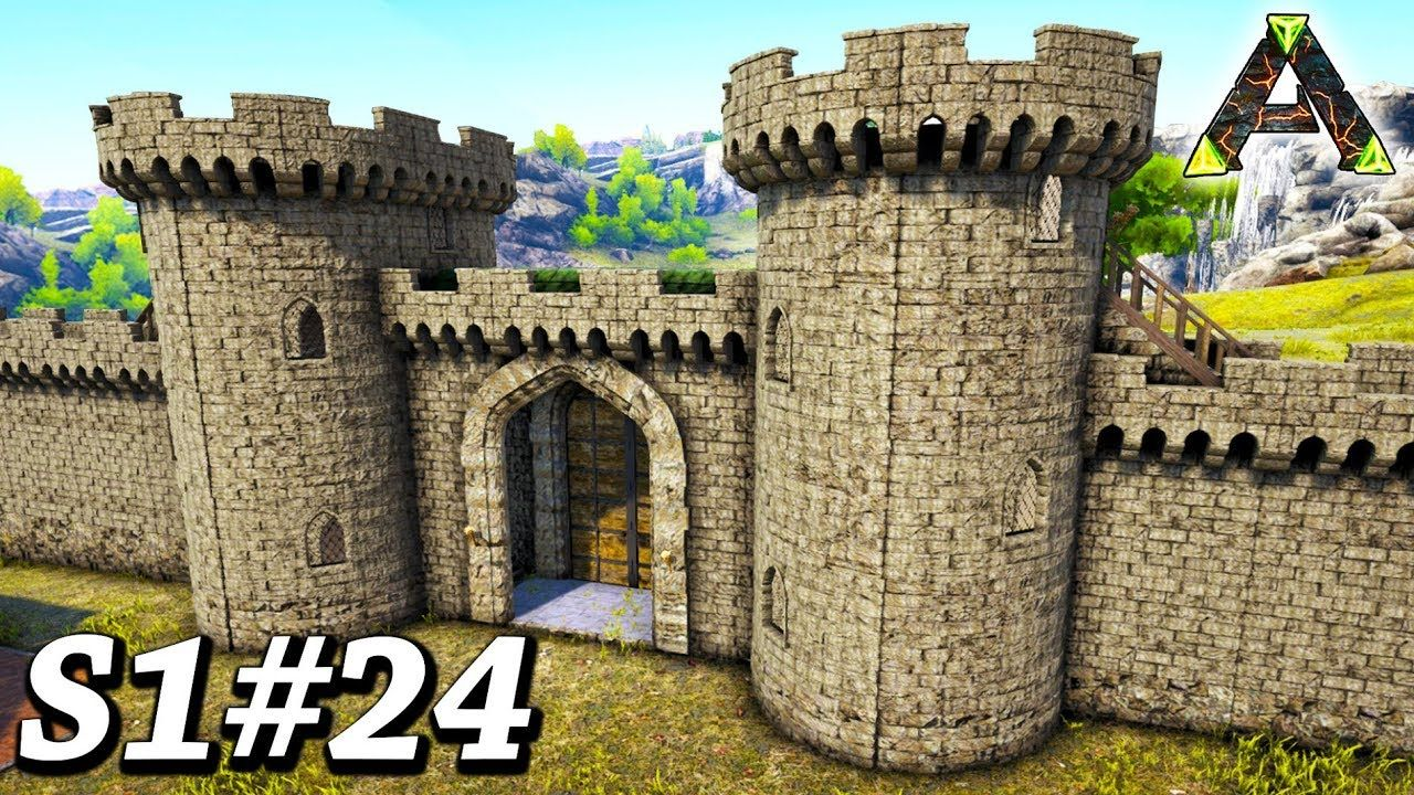 Ark Epic Castle Gate Wall Build Ark Survival Evolved Ragnarok