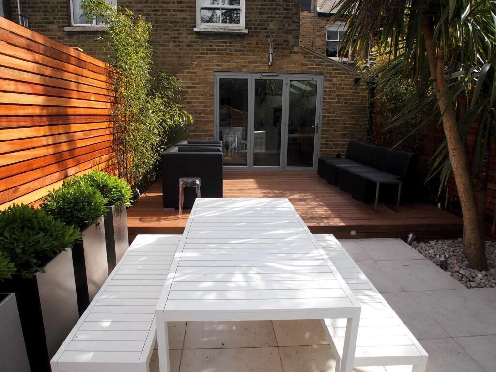 this long and narrow rectangular plot in teddington south west london was a design challenge contemporary garden - Garden Design Long Narrow Plot
