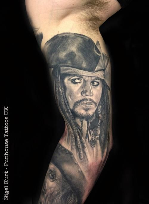 Johnny Depp As Captain Jack Sparrow From The Pirates Of The