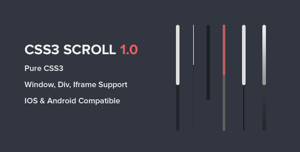 Css3 Scroll By Stampreadytemplates Version 1 0 Initial Release Featurespure Css3 Supports Webkit Browsers Fallb Scroll Bar Wordpress Plugins Design Scroll