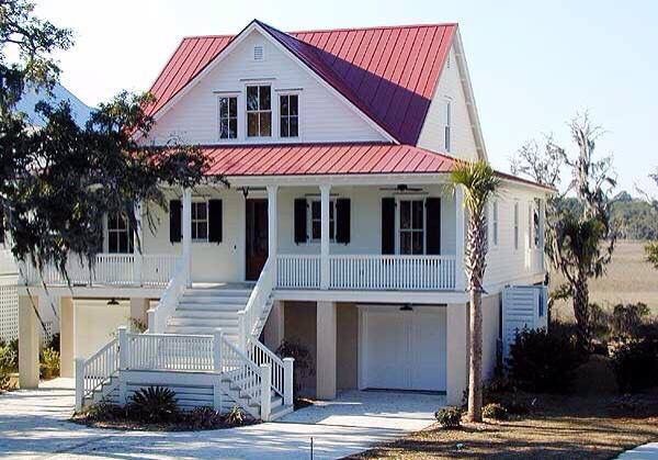 Plan 15007nc Classic Low Country Home Plan In 2020 Elevated House Plans Low Country Homes Country House Plans