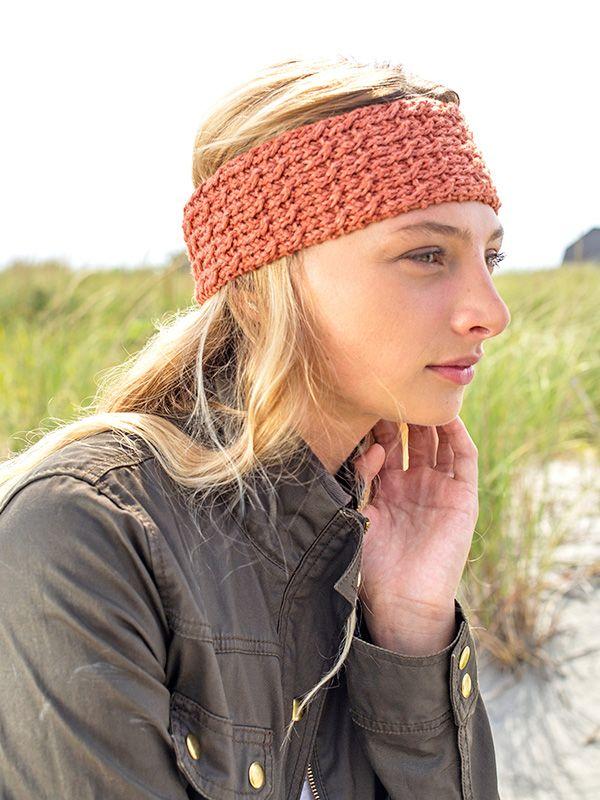 Clafoutis A Free Headband Pattern Knit In Berroco Cotolana