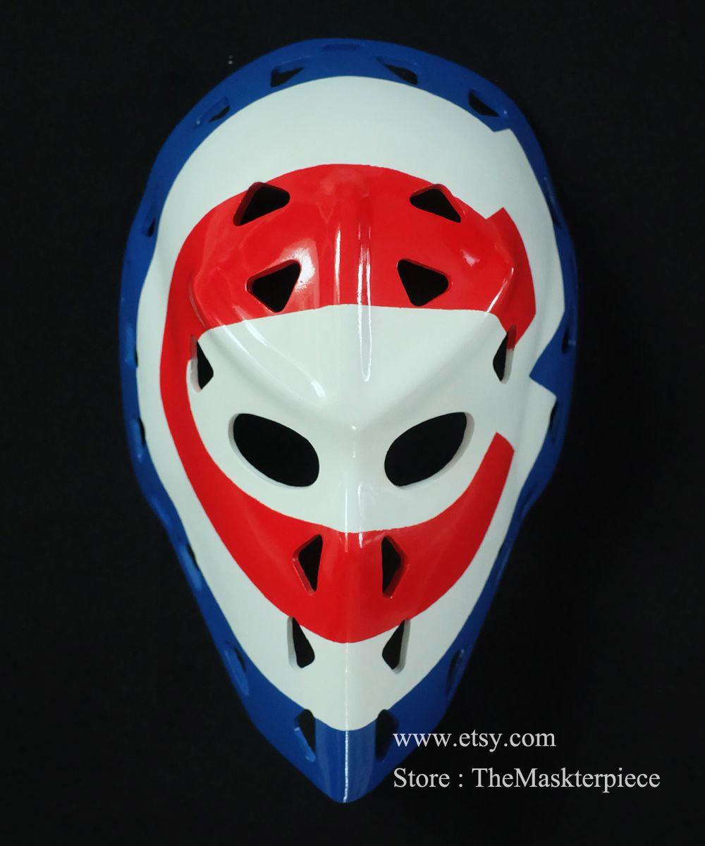 Ken Dryden Ice Hockey Mask Goalie Helmet 1 1 Scale Wearable Home Decor Vintage Montreal Style G04