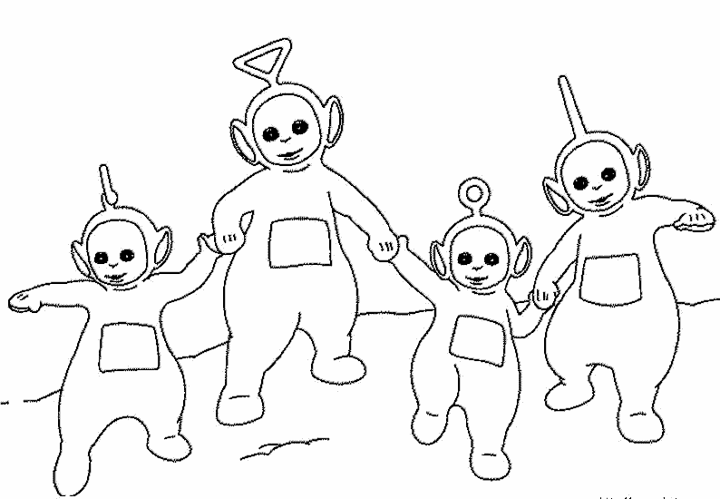 teletubbies coloring pages Teletubbies