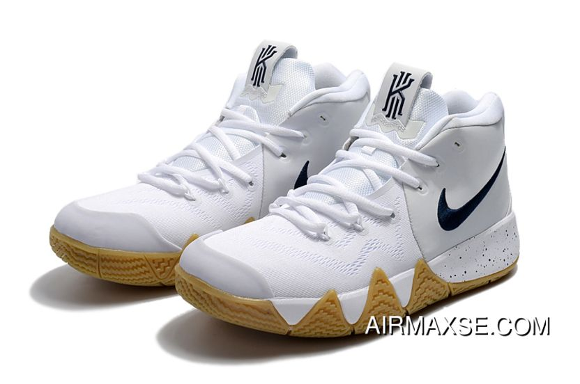d913a2b8a73f Nike Kyrie 4 White Gum-Deep Blue New Style in 2019