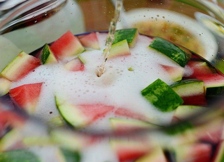 Easy And Delicious Recipe: 3 Ingredient Watermelon Sangria - Oola.com