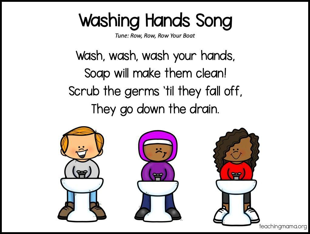 Handwashing Songs For Kids Hand Washing Song Kindergarten Songs Preschool Songs [ 772 x 1022 Pixel ]