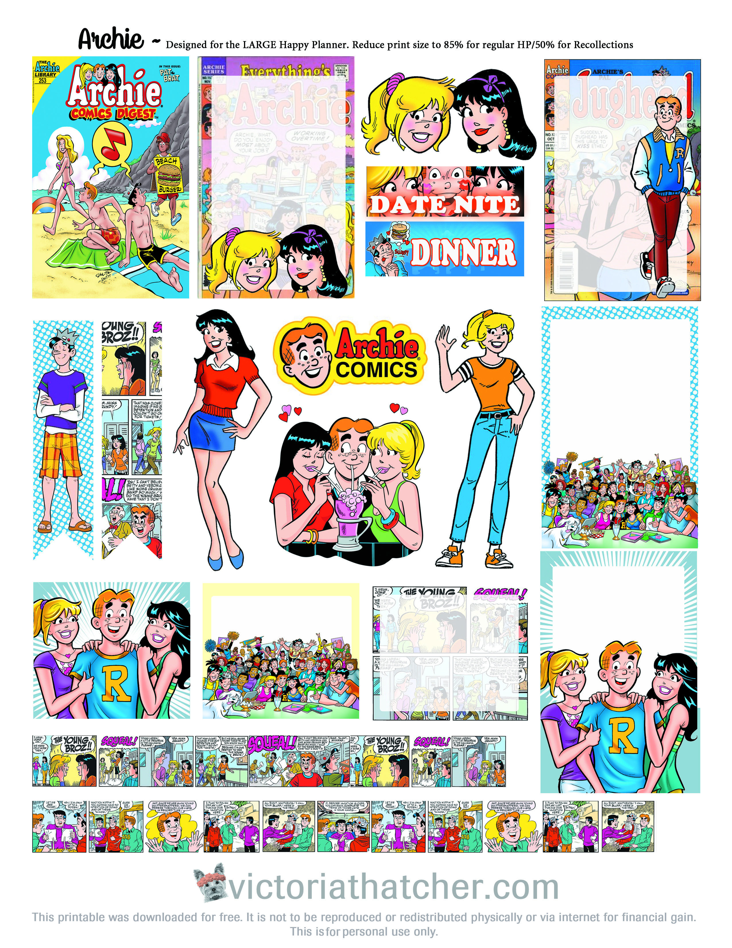 Archie Comics Planner Printable FREE!! | Free Planner Stickers ...