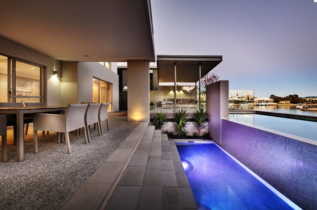 Poolside | House design, Storey homes, Two storey house