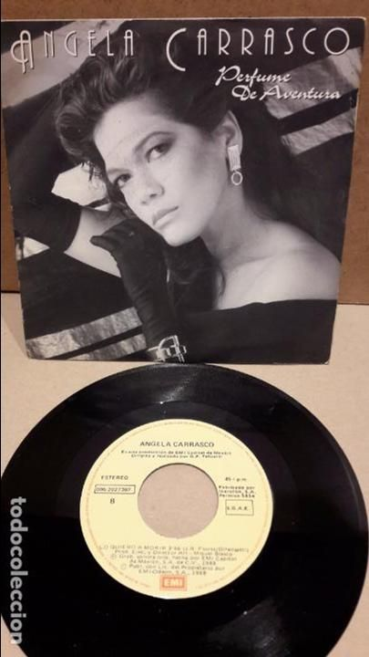 Angela Carrasco Perfume De Aventura Single Emi México 1988 Mbc Musica Disco Discos De Vinilo Vinilo