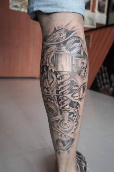 Tattoo By Astin Tattoo Calf Tattoo Men Calf Tattoo Tattoos For Guys
