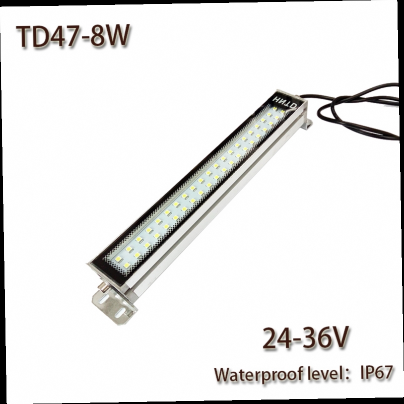 41.38$  Buy here - http://alie11.worldwells.pw/go.php?t=32625314635 - HNTD 8W Led Panel Light  24V/36V  DC LED Metal work light CNC machine work tool lighting TD47 Waterproof  IP67 Free Shipping